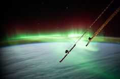The northern lights are a spectacular night sky phenomenon when viewed from Earth, but from space they transform into something truly amazing. Description from 2eyeswatching.com. I searched for this on bing.com/images
