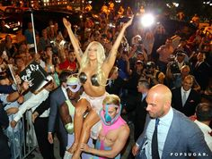 Pin for Later: Can't-Miss Celebrity Pics!  Lady Gaga put on a show after leaving her hotel in Athens, Greece, on Wednesday.