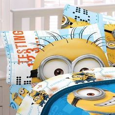 Despicable Me Minions Bedding for Kids Sheets Bed Set Twin Cute Soft Pillow Case #073558692218