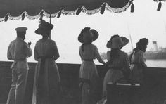 Tsar Nicholas II With His Wife Alexandra & Three of their daughters