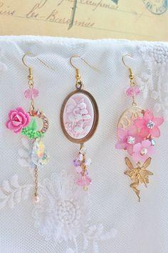 Little Garden Fairy Trio Earrings  romantic