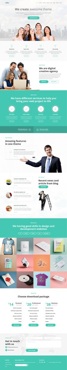 Kelex is fully featured with one & multi page #Muse landing page template and each category has a Extra page (blog, single…