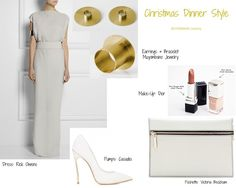 Our #Christmas #Dinner style inspiration for you Dress #RickOwens Pochette by #VictoriaBeckham Shoes by #Casadei Official Make-Up by #Dior Jewelry by #MuyombanoJewelry xx, MJ