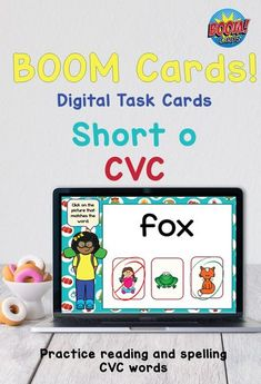 Practice reading and spelling short o CVC words. Includes word picture matching, sentence reading, and spelling with letter tiles. The spelling cards include sound so students can be sure of the word they need to spell. This deck of 20 cards is a perfect size for your young learners! Great for tutoring, home use and distance learning Spelling Word Activities, Phonics Rules, Phonics Lessons, Teaching Phonics, Teaching Resources, Reading Words, Reading Fluency, Spelling Patterns, Learning Apps