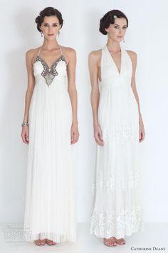 catherine deane bridal 2012 denise collette halter neck wedding dresses