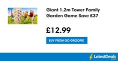 Giant 1.2m Tower Family Garden Game Save £37, £12.99 at Go Groopie