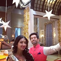 The stars are shining bright. Last sequence on Pyar Ka Dard Hai! At Diwan Mansion. As Adi & Pankhuri.