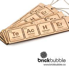 Brickbubble | Periodic Bookmark - unique engraved wood bookmark. #teacher #wood…