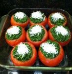 Spinach and Herb Stuffed Tomatoes