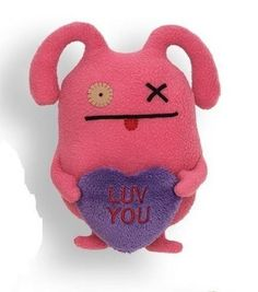 """Ugly Valentines 7"""" Little Pink Ox Ugly Doll Luv You # 4037583 Gund #GUND"""