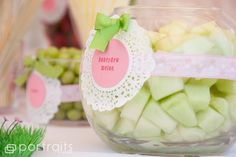Shabby Chic Baby Shower - Pick sweet and fluffy treats for baby showers showing softness and decident smells.