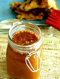 Carolina Mopping Sauce is used in place of a rub as a baste while the meat slowly roasts on the barbecue. Eastern Carolina Mopping Sauce is vinegar based with a spicy kick. Sauce via Kitchen Dreaming Barbecue Sauce Recipes, Barbeque Sauce, Grilling Recipes, Pork Recipes, Cooking Recipes, Bbq Sauces, Smoker Recipes, Spinach Recipes, Pulled Pork Mop Sauce Recipe