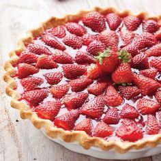 Tarte aux fraises facile avec thermomix. Une recette de Tarte aux fraises, facile et rapide a réaliser avec votre robot thermomix.