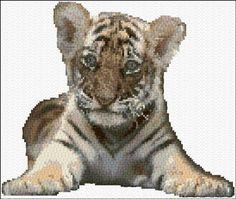 Cross Stitch | Tiger Cub xstitch Chart | Design