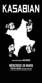 KASABIAN — Wednesday, March 28 at 8:00pm at Théâtre Corona.
