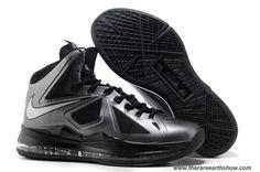 Discounts Nike Lebron X (10) Black Diamond Style 541100-001