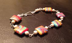 Multi Color Turquoise Bracelet by wrappedandwired on Etsy, $20.00