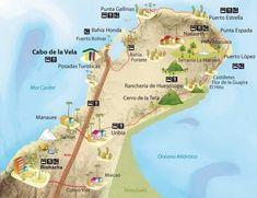 Risultati immagini per la guajira colombia map