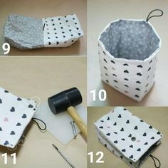 DIY Miniature – Folding Mini Cute Wallet, Backpack, Umbrella Simply For Barbie Fabric Storage Baskets, Fabric Bins, Fabric Gift Bags, Sewing Projects For Beginners, Learn To Crochet, Knitted Blankets, Diy Gifts, Sewing Crafts, Origami