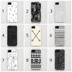 Cute iPhone cases: Black + White