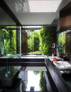 homedesigning:  (via Sunlight Streams into Bathrooms Connected to Nature)