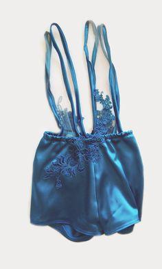 afa8af37db66 1920 vintage inspired Playsuit Sexy lace trasparent by VenereMana Nuances  De Bleu