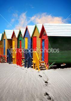 plážové chatky — Stock obrázek #3232028