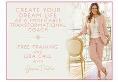 Divine, Living, Dream, Profit, Transformation, Coach, Training, Free, Gina, Devee, Business, Women, Motivation, Success