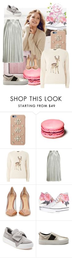 """""""Senza titolo #1107"""" by solan79 ❤ liked on Polyvore featuring Repeat Cashmere, MICHAEL Michael Kors, Dorothy Perkins, Topshop, Gianvito Rossi, Converse and J/Slides"""
