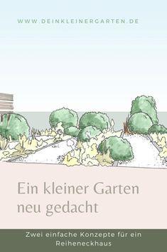Frau B.-K. liebt ihren #Garten, wünscht sich aber mehr Ordnung, und mehr Großzügigkeit. Zwei Konzepte zeigen, was möglich ist Place Cards, Place Card Holders, Lawn, Concept, Plants, Woman