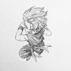 Trunks from Dragon Ball Z/ #image #instaart #illustration #imageoftheday #otaku #dragonball #pen #pic #paint #painting #pencil #picture #picoftheday #art #anime #artist #amazing #artbook #animeart #artoftheday #animedrawing #sketch #draw #drawing #trunks #comic #dragonballz #creative #manga #mangaka