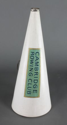 """Lot 157, A Pep Supply fibreglass megaphone marked Cambridge rowing club 32"""", sold for £85"""