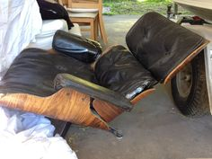 Authentic  Eames lounge chair and ottoman | eBay - Needs a load of work & Eames Lounge (eameslounge) on Pinterest