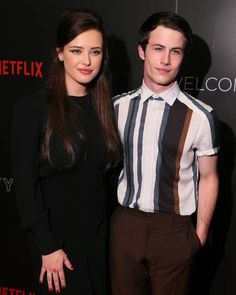 Dylan and Katherine at Netflix FySee event for 13 Reasons Why Reasons, 13 Reasons Why Netflix, Thirteen Reasons Why, Tv Series 2017, Best Series, Series Movies, Celebrity Couples, Celebrity Photos, Clay And Hannah