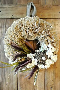Hometalk :: How To Make A Coffee Filter Wreath