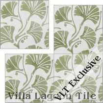 Fan Vine Cement Tile, from Villa Lagoon Tile