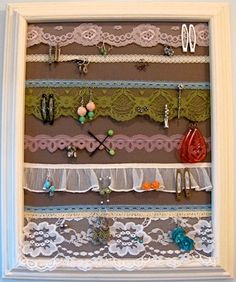 @Rachel Gibson If you do this you can put your studs through the looser lacy fabric and not have to pull it off the wall every timel you want them.