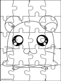 Printable jigsaw puzzles to cut out for kids Hamtaro 4 Coloring Pages