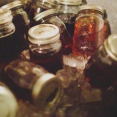Mason jars and sweet tea. Need to get some of these jars. Love them. :)