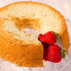 Angel Food Cake - just the recipe to use up all those egg whites leftover from making ice cream!