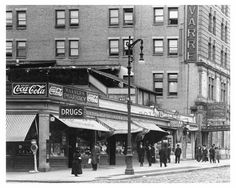 37th & 7th Avenue Diner with a Coca-Cola sign over head 1917 Chelsea NY, NY
