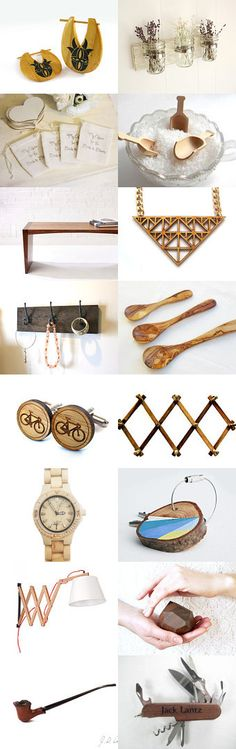 Wood ♥ by Elinor Levin on Etsy--Pinned with TreasuryPin.com