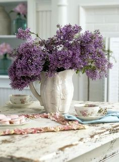 Lilacs fill a home with a lovely fragrence...