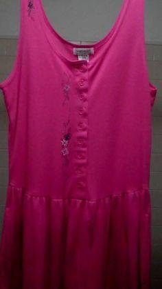 Misses/Junior Knit Dress Size L-with painted Design-Size L-see delicate design! #TanksALot