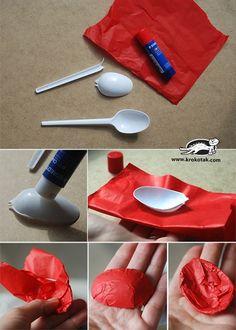 reciclar cucharas de plastico