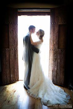 in the barn door way Wedding Portraits, Wedding Photos, Our Wedding, Wedding Venues, Wedding Flowers, Wedding Dresses, Industrial Wedding, Bridal Style, Pink White