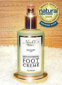 Deep Penetrating Foot Creme - Award Winning! - Large size plus treatment pump! (4oz / 120ml)