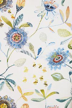 : Garden Buzz Wallpaper Anthropologie