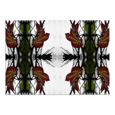 KESS InHouse Pia Schneider 'Leaves' Red Green Dog Place Mat, x * You can find more details by visiting the image link. (This is an affiliate link and I receive a commission for the sales) Dog Food Container, Pin Image, Image Link, Woven Wall Hanging, Red Green, Pet Dogs, Tapestry, Leaves, Awesome