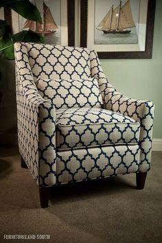 Huntington House Chair - living room navy chair
